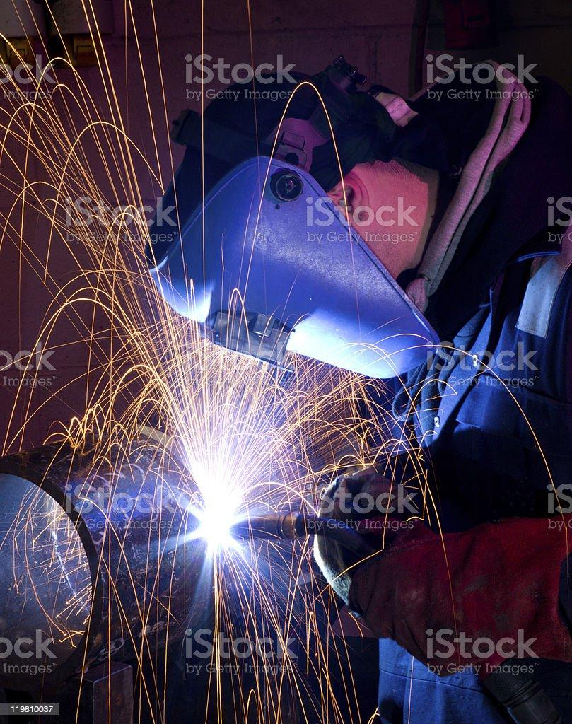 MIG welding on steel tube