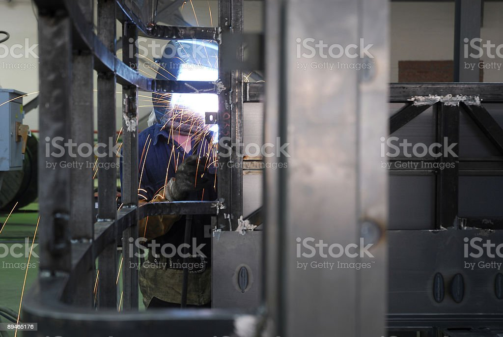 welding operator with belt royalty-free stock photo