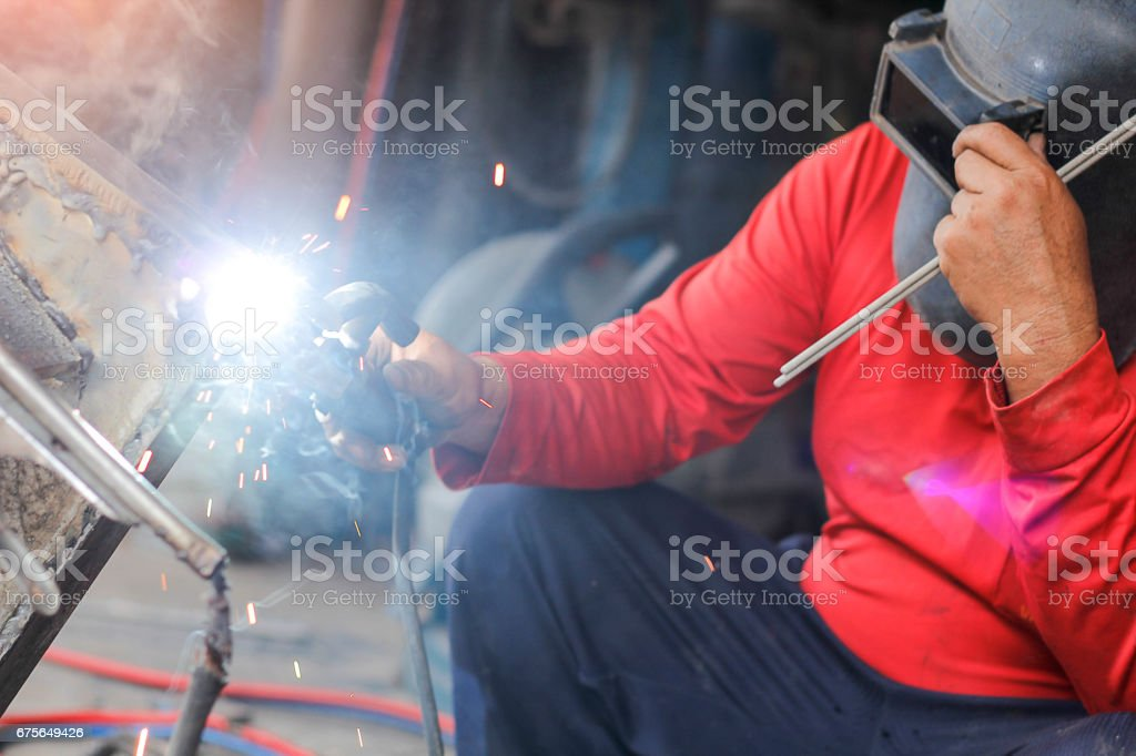 Welding  pieces of metal. royalty-free stock photo