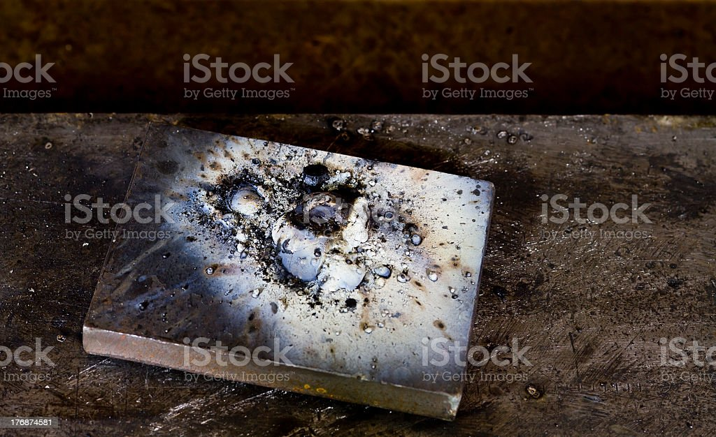 welding remains royalty-free stock photo