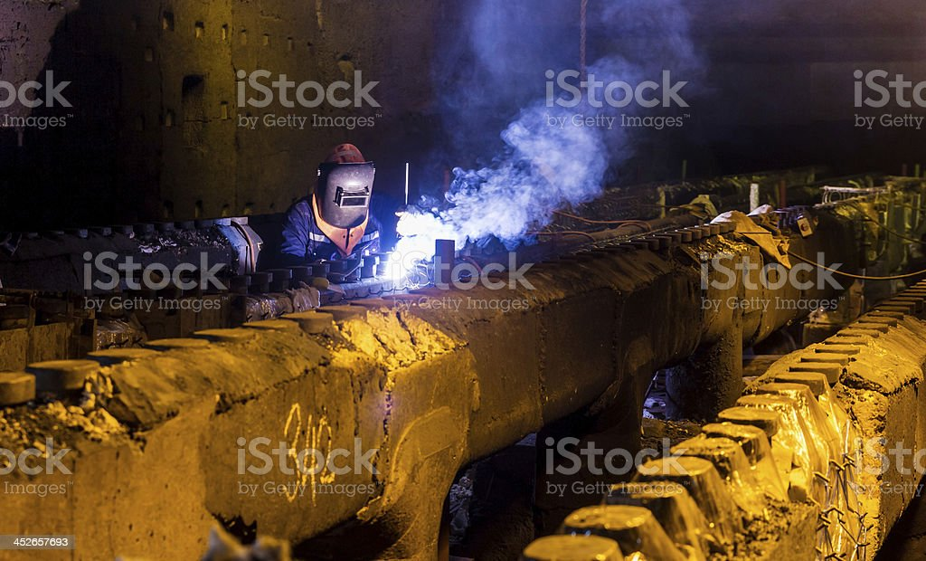 Welding repair and maintenance royalty-free stock photo