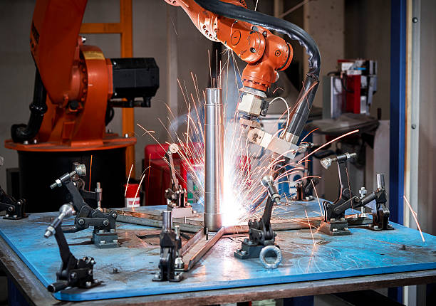 Welding robot stock photo