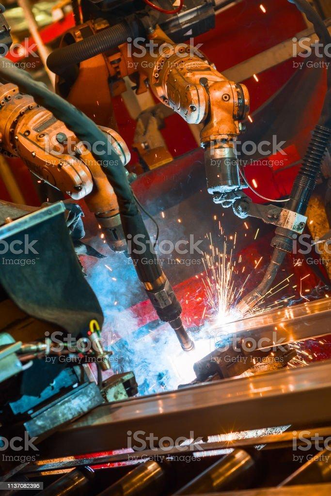 Welding Robot Welds Metal Parts Stock Photo Download Image Now Istock