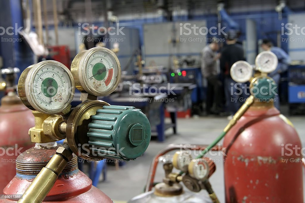 Welding shop royalty-free stock photo