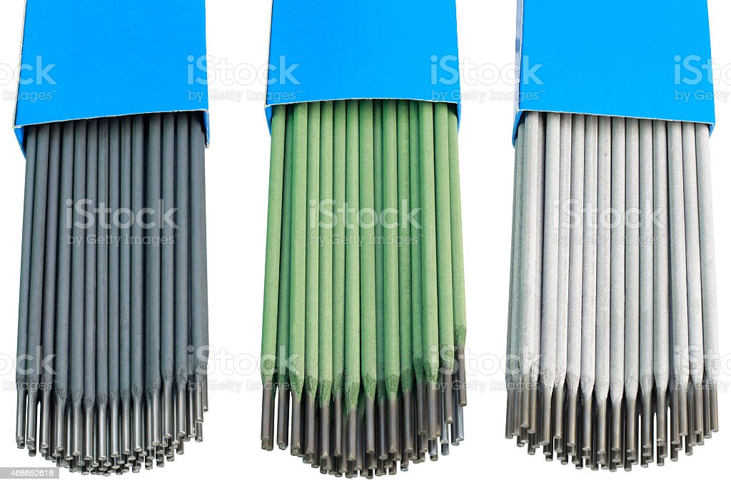 Welding Sticks Cutout stock photo