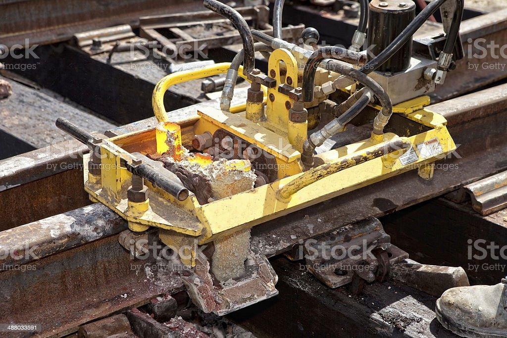 Welding Tracks stock photo