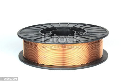 Welding wire on a coil for a semi-automatic swirl.