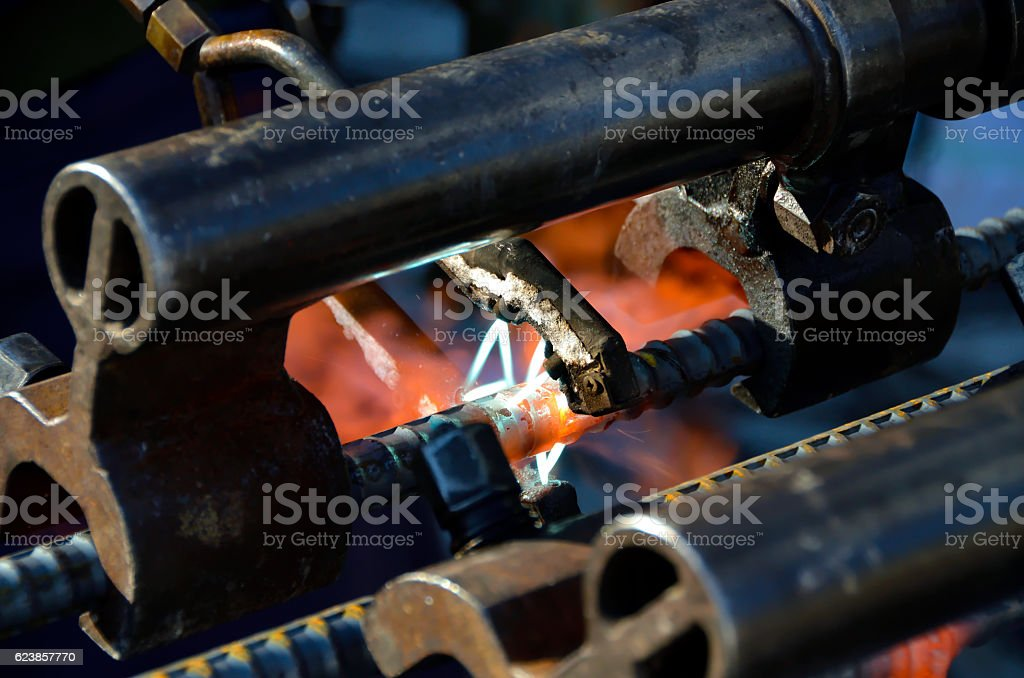 welding with pressure stock photo