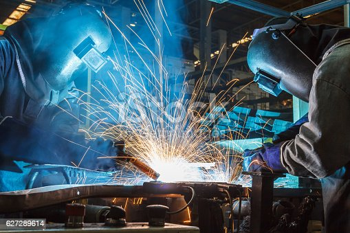 istock Welding with sparks 627289614
