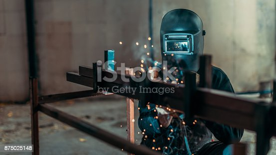 istock Welding with sparks 875025148