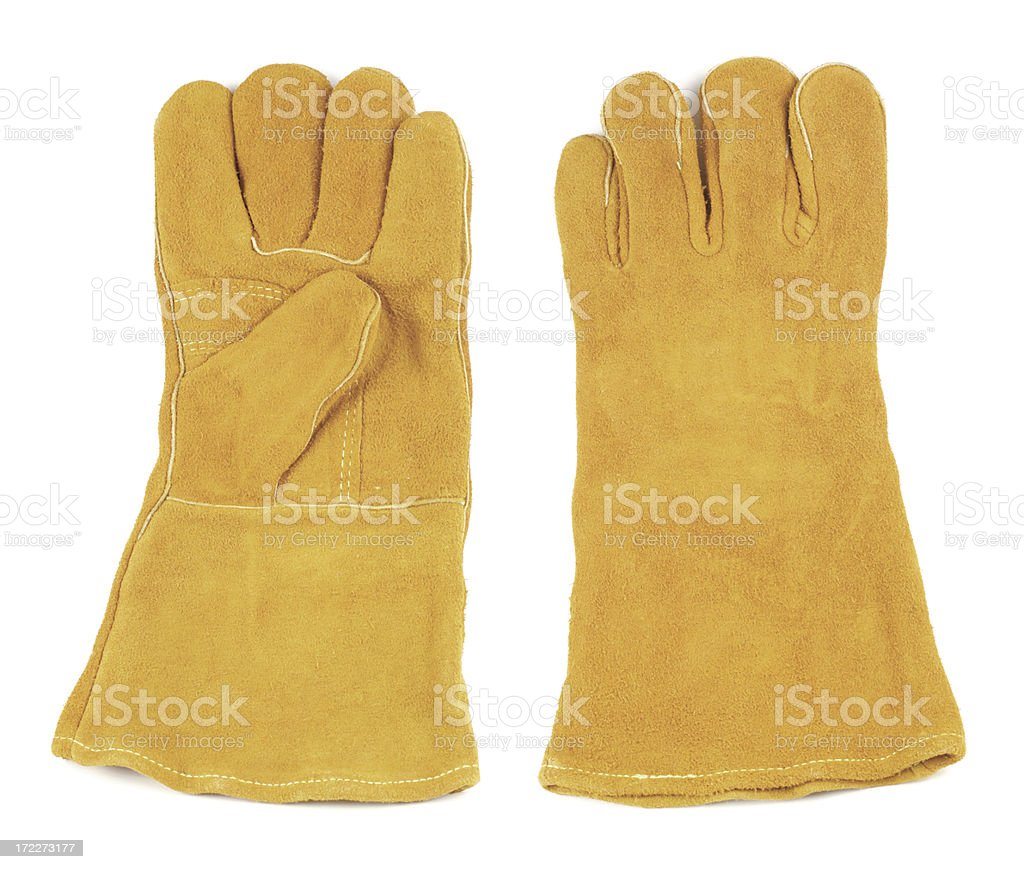 Welding Work Gloves royalty-free stock photo
