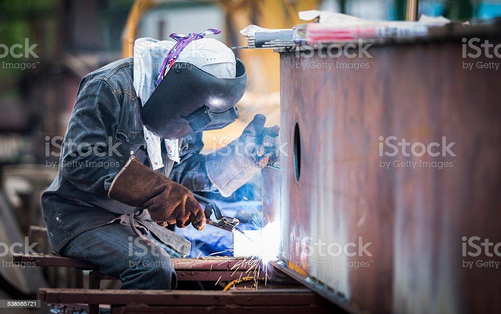 Trabajo de soldadura - foto de stock