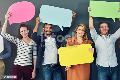 1048561866 istock photo We'll be your voice 1048561886