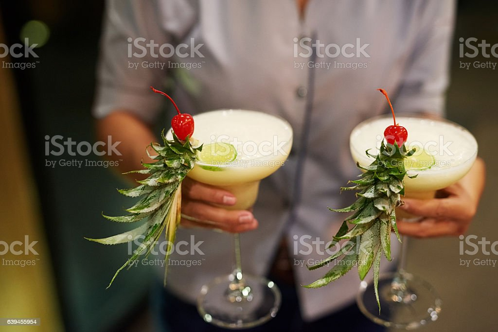 We'll bring the drinks to you stock photo