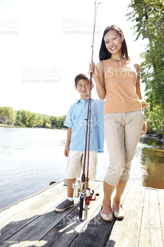 We'll definitely catch the big one today! royalty-free stock photo