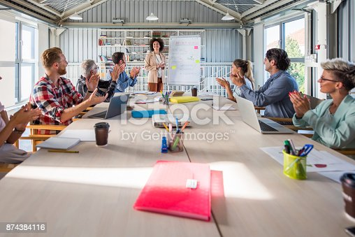 istock Well done, great presentation! 874384116