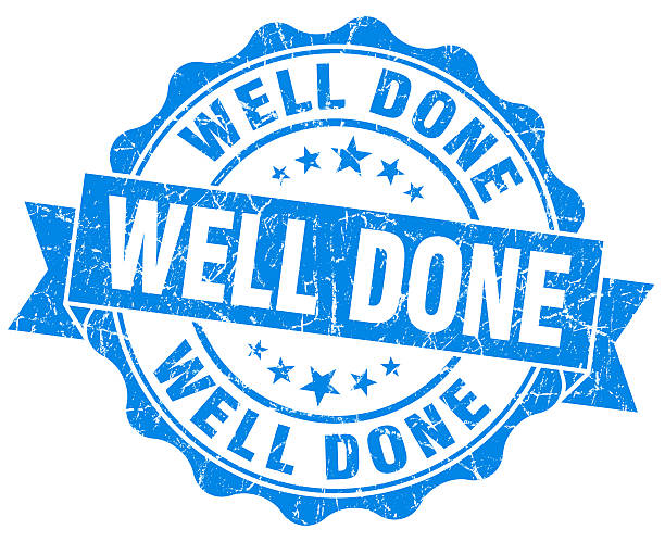Well Done Grunge Stamp stock photo