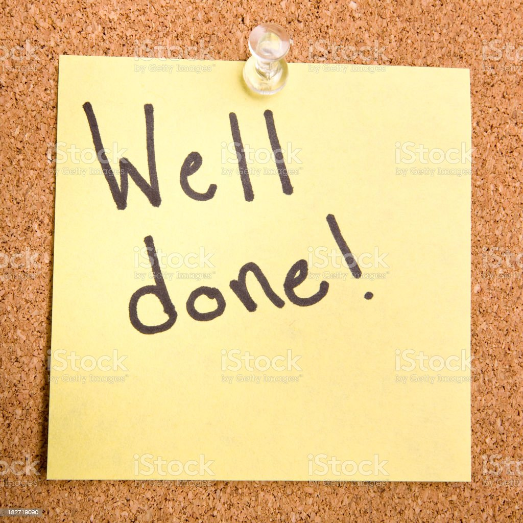 Well done! royalty-free stock photo
