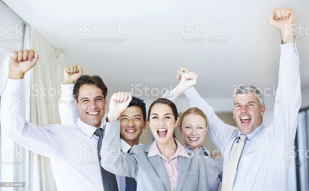 Well done! We did it! royalty-free stock photo