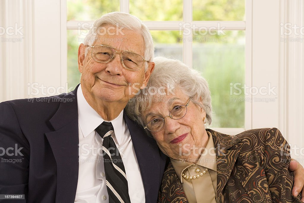 well dressed senior married couple royalty-free stock photo