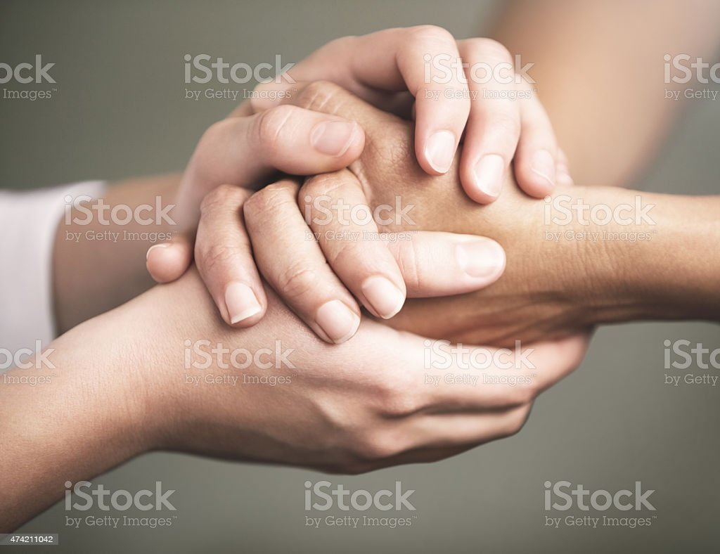 We'll get through this together stock photo