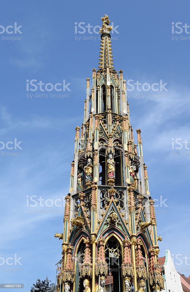 Well in Nuernberg, Germany stock photo