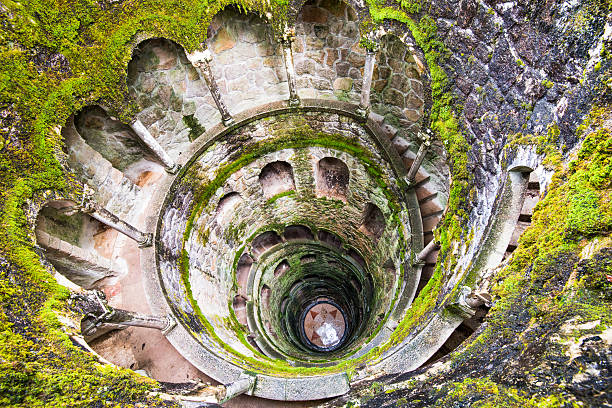 well in sintra - portugal stock photos and pictures