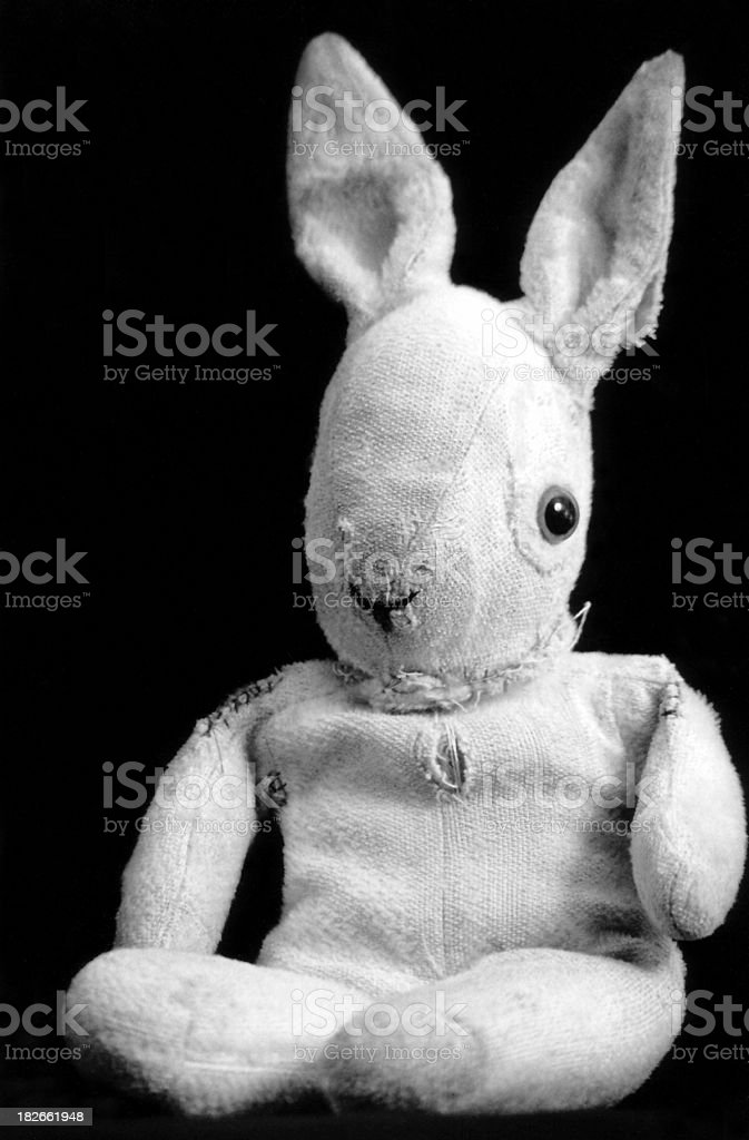 Well loved bunny stock photo