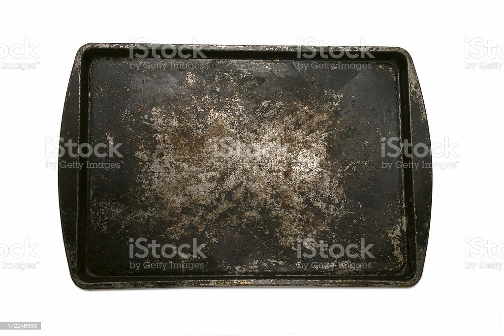 Well Loved Cookie Sheet royalty-free stock photo