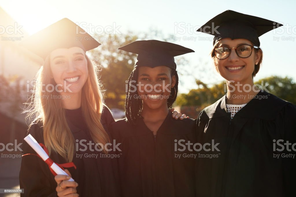 We'll never forget the friendships formed at college stock photo