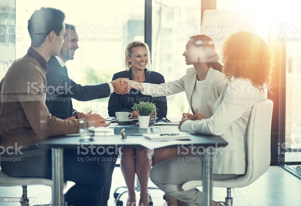 We'll no doubt work very well together stock photo