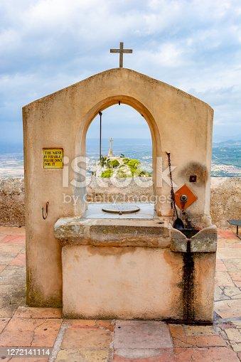 istock Well on top of Sant Salvador mountain, Mallorca, Spain 1272141114
