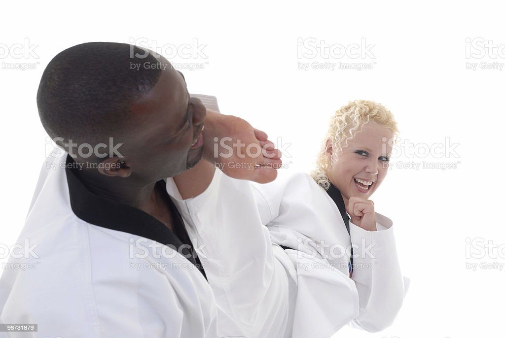 Well placed kick royalty-free stock photo