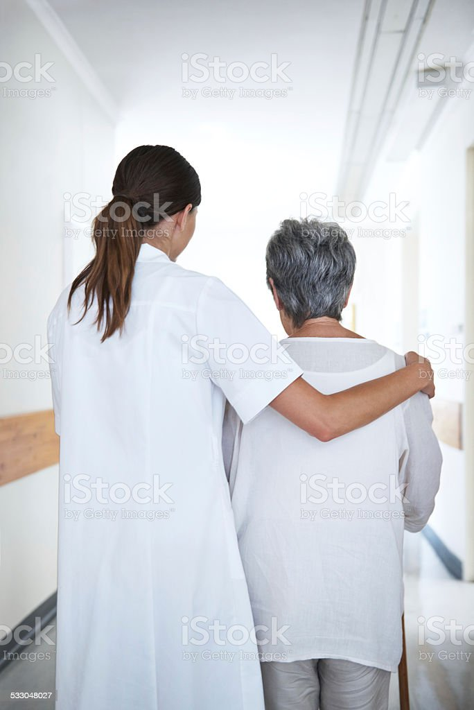 We'll see this through together stock photo