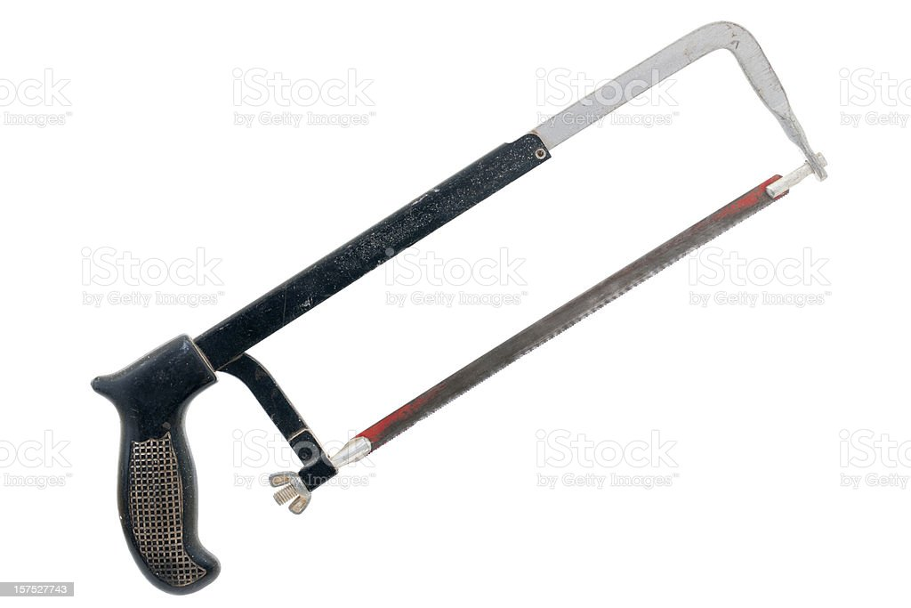 well used hack saw stock photo