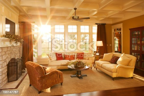 Traditional Living Space Photos: Wellappointed Traditional Living Room With Beamed Ceiling