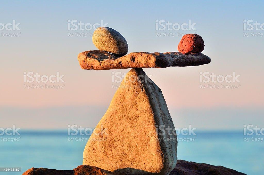 Ausgewogene von Steinen – Foto