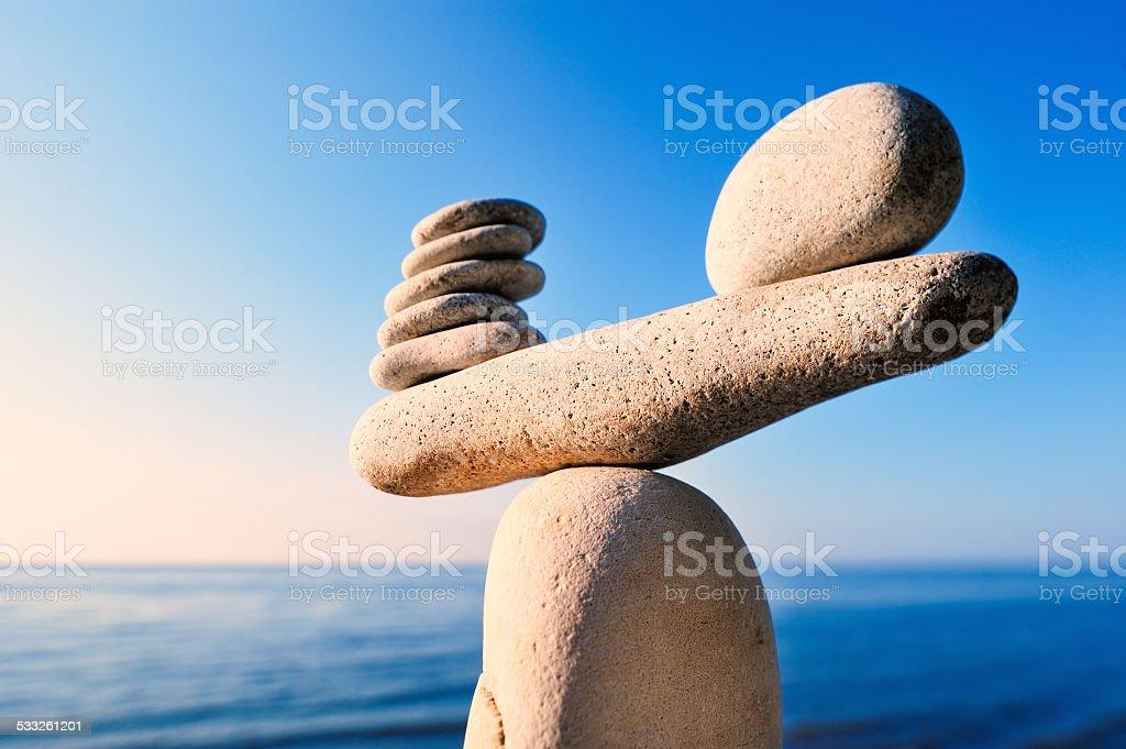 Well-balanced stock photo