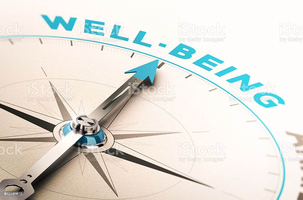 Well-being or wellness stock photo