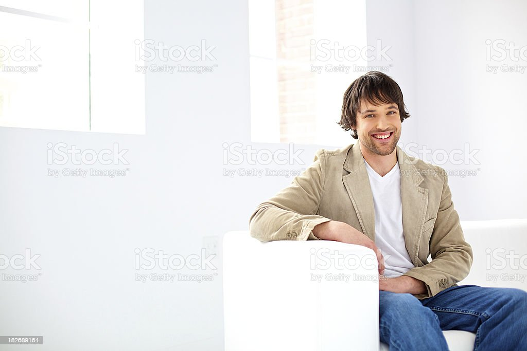 wellbeing  smiling man royalty-free stock photo