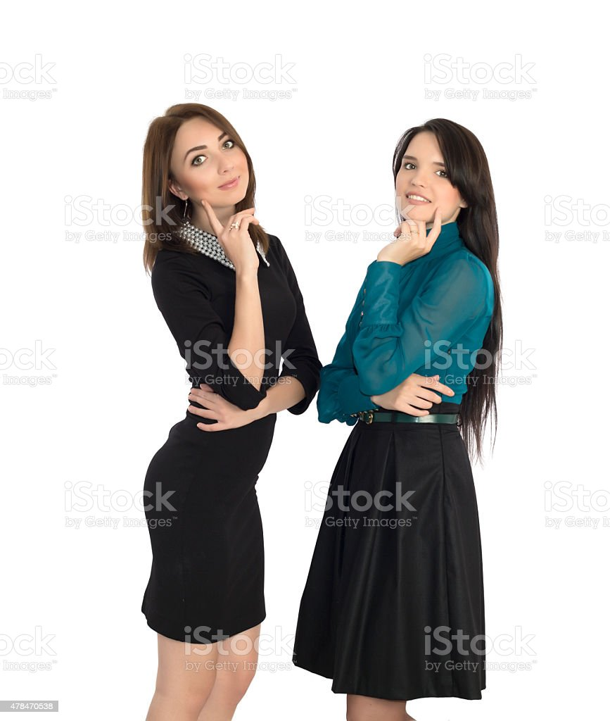 Well-bred cuties stock photo