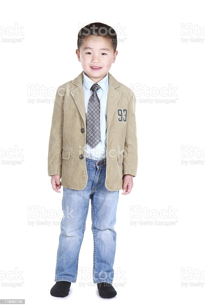 well-dressed Asian boy royalty-free stock photo