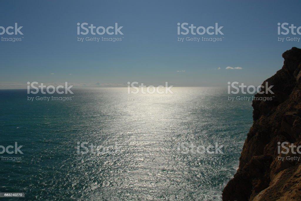 Wellen / Brandung am Mittelmeer - Spanien royalty-free 스톡 사진