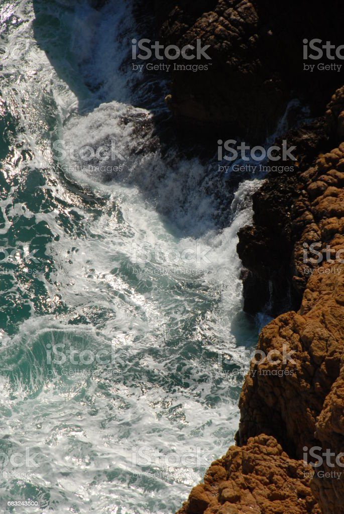 Wellen / Brandung am Mittelmeer - Spanien 免版稅 stock photo