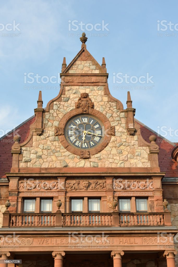 Wellesley Town Hall stock photo