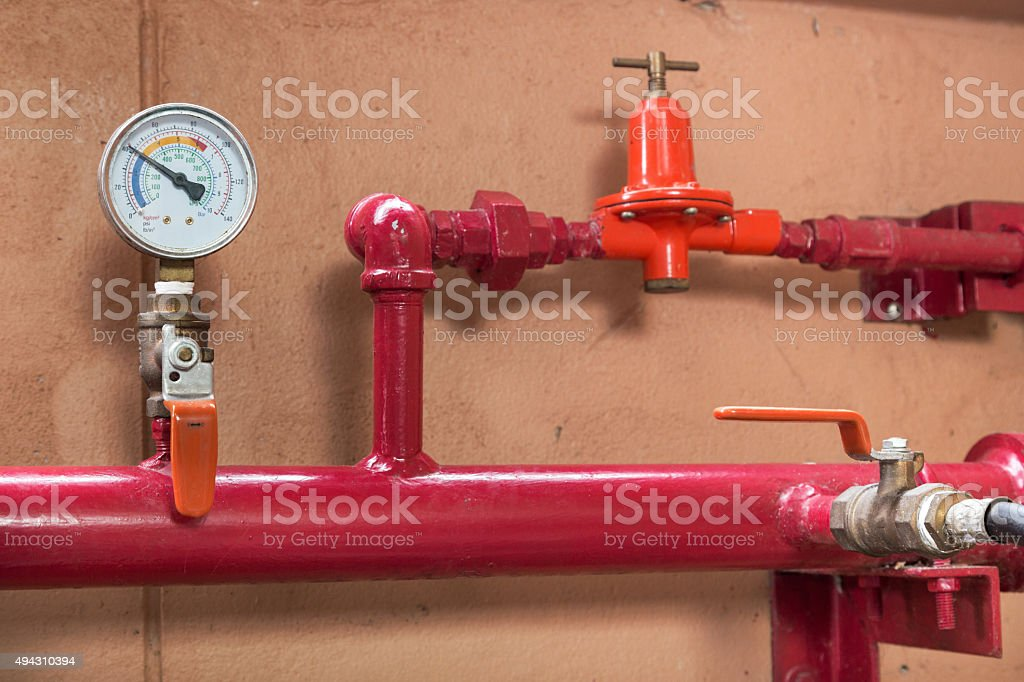 Wellhead Pressure Gauge stock photo