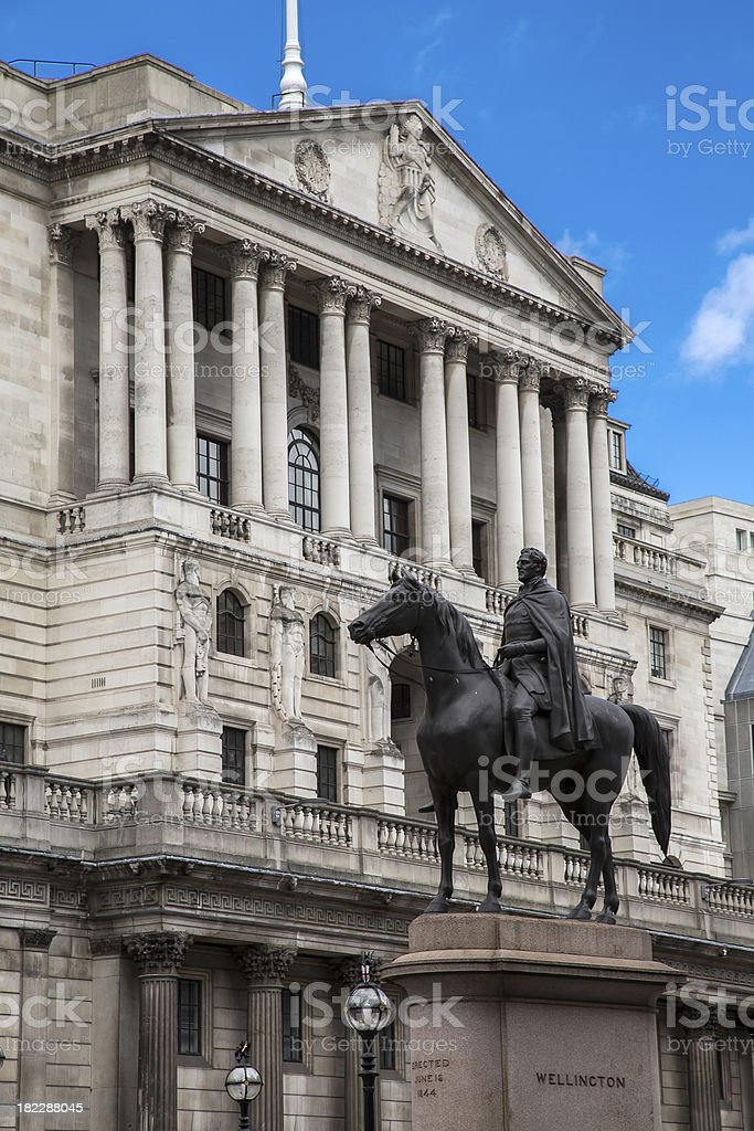 Wellington and The Bank of England stock photo