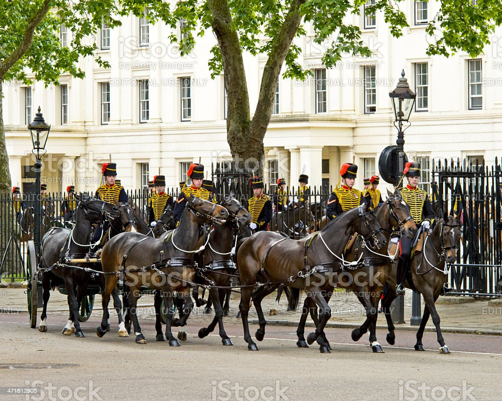 Wellington Barracks Guard royalty-free stock photo