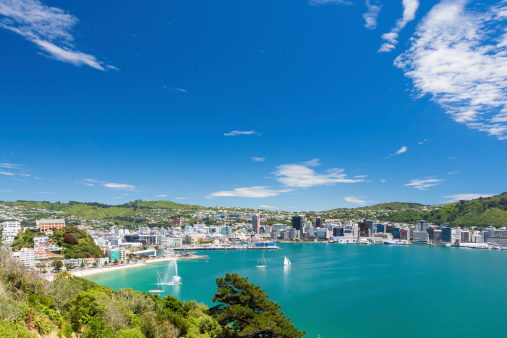 Wellington Bay And Harbour Stock Photo - Download Image Now