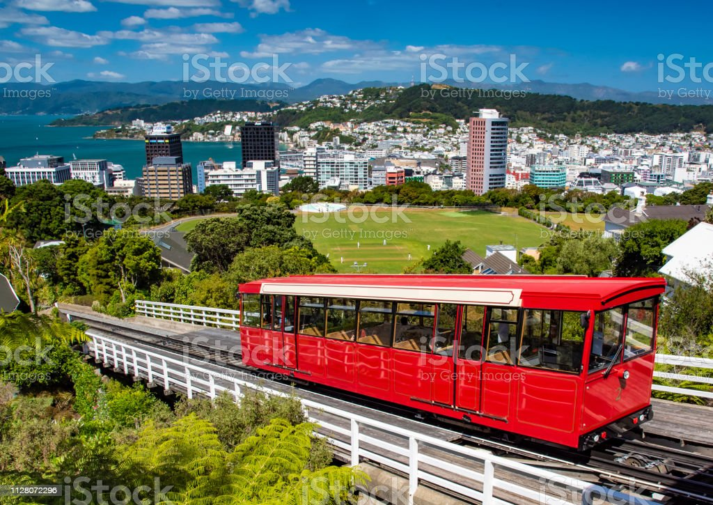 A Wellington Cable Car stock photo